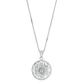 Silver Round Filigree Pendant - Product number 8431663