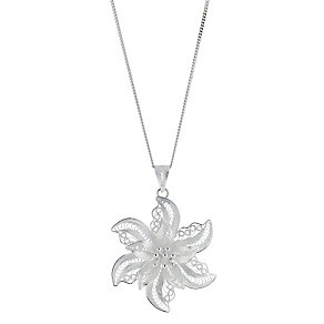 Silver Large Filigree Flower Pendant - Product number 8431671