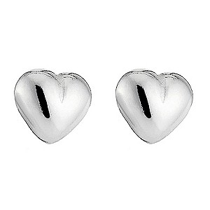 sterling Silver Plain Heart Stud Earrings product image