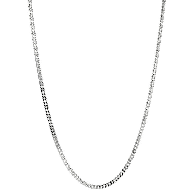 "Sterling silver 20"" curb chain - Product number 8432775"