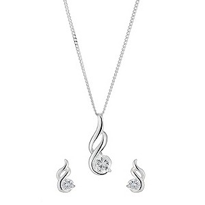 sterling Silver Cubic Zirconia Fancy Pendant and product image