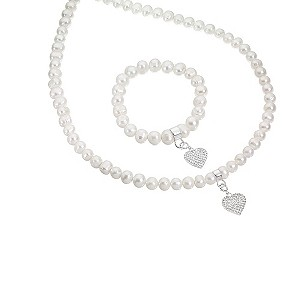 Sterling Silver and Pearls Bracelet and Necklace product image