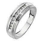 Men's 9ct white gold 1/4 carat diamond ring - Product number 8439192