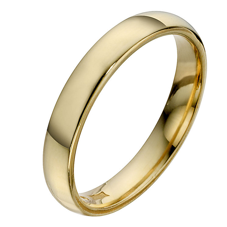 22ct Yellow Gold 3mm Extra Heavyweight Court Wedding Ring - Product number 8440255