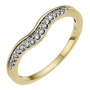 18ct Yellow Gold And Diamond Wedding Band - Product number 8441758