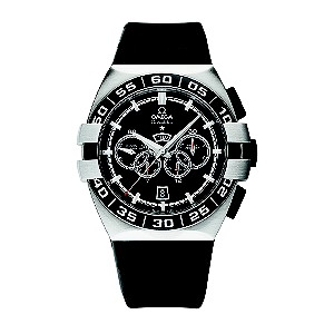 Omega men's black rubber strap watch - Product number 8442576