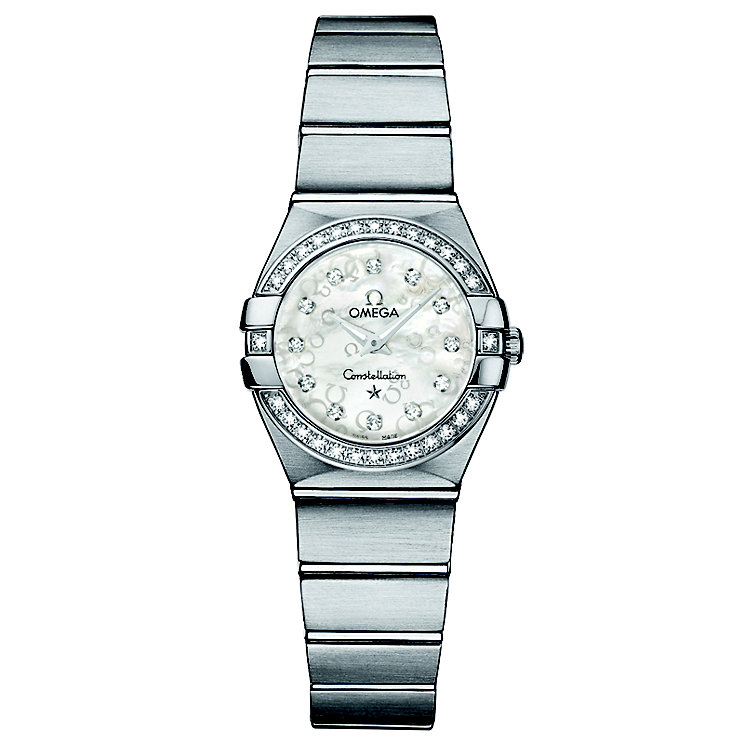 Omega Constellation Quartz ladies' diamond set watch - Product number 8442649