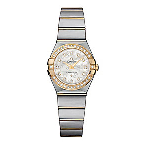 Omega ladies' mother of pearl dial two colour bracelet watch - Product number 8442894