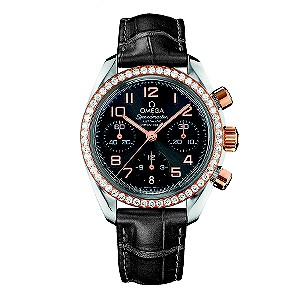 Omega Speedmaster ladies' black strap watch - Product number 8442959