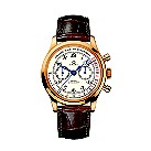 Omega men's white dial brown strap chronograph - Product number 8442983