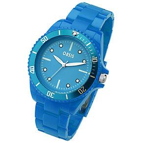 Oasis Ladies' Blue Plastic Bracelet Watch - Product number 8443238