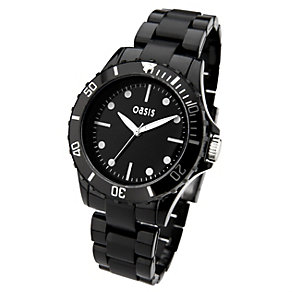 Oasis Ladies' Black Plastic Bracelet Watch - Product number 8443246