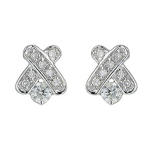 Diamond Kisses 9ct White Gold Pave Set Diamond Kiss Earrings product image