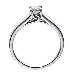 18ct White Gold 0.33 Carat Diamond Solitaire - Product number 8447217