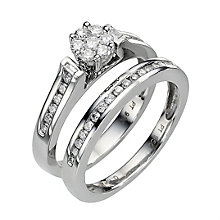 Platinum 1/2 Carat Diamond Perfect Fit Bridal Set - Product number 8453047