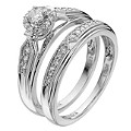 18ct White Gold Third Carat Diamond Bridal Set - Product number 8454000