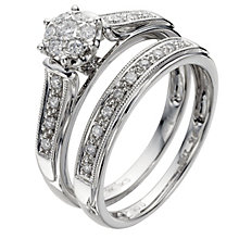 9ct White Gold 1/4 Carat Diamond Perfect Fit Bridal Set - Product number 8455082