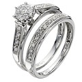 Perfect Fit 9ct White Gold 1/4 Carat Diamond Bridal Set - Product number 8455082
