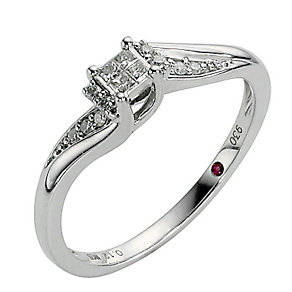 Cherished Silver Diamond Princessa Ring - Product number 8456801