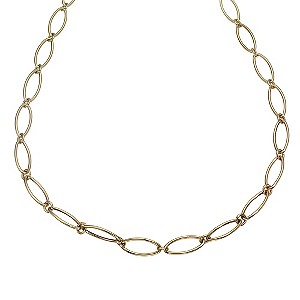 9ct Gold Oval Link Collar Necklace