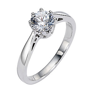 18ct White Gold One Carat Diamond Solitaire Ring - Product number 8458588