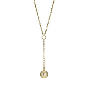 9ct Gold Ball Drop Necklace