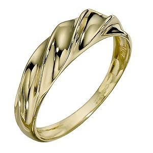 9ct Yellow Gold Twist Ring