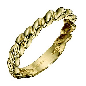9ct Yellow Gold Small Twist Ring