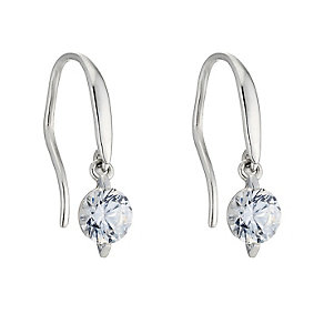 9ct white gold made with Swarovski Zirconia drop earrings - Product number 8467145