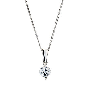 9ct white gold made with Swarovski Zirconia pendant - Product number 8467153