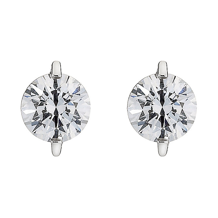 9ct white gold made with Swarovski Zirconia stud earrings - Product number 8467161
