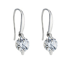 9ct white gold made with Swarovski Zirconia drop earrings - Product number 8467188