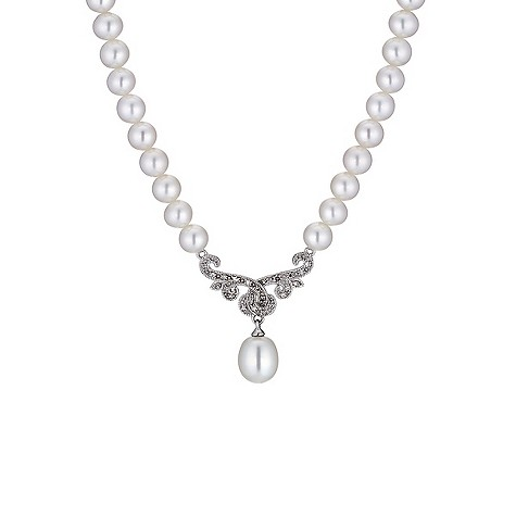 9ct white gold cultured freshwater pearl