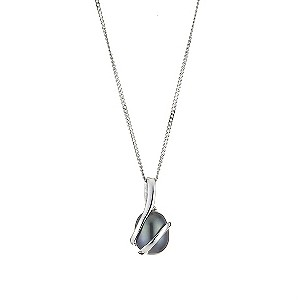 "9ct white gold black coloured pearl pendant 18"" - Product number 8467331"