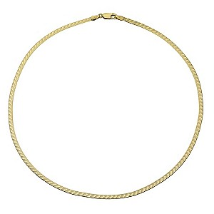 9ct Yellow Gold Herringbone Pattern Necklace