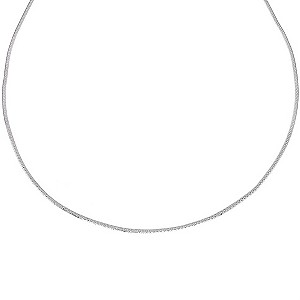 9ct White Gold Single Patterned Herringbone Necklace