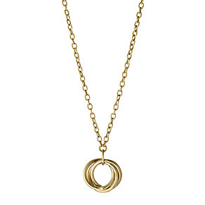 9ct Gold Russian Ring Charm Necklace - Product number 8467757