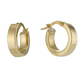 9ct gold 10mm creole earrings - Product number 8468575
