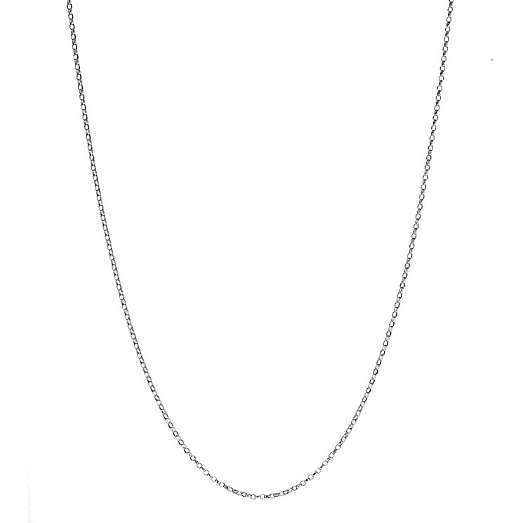 9ct white gold mini belcher chain - Product number 8468613