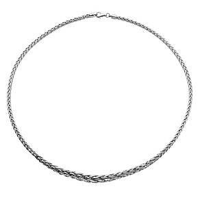 9ct white gold graduated spiga necklace - Product number 8468648