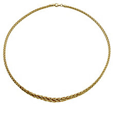 9ct yellow gold graduated spiga necklace - Product number 8468680
