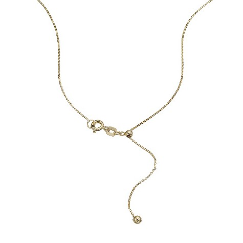 9ct gold adjustable mini belcher chain 20