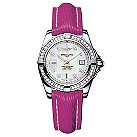 Breitling Galactic 32 ladies' pink leather strap watch - Product number 8468893
