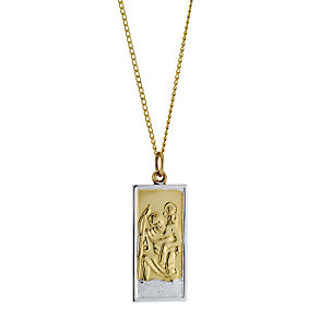 Rolled Gold Rectangular St Christopher - Product number 8469822