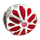 Miss Chamilia - sterling silver and enamel flower power bead - Product number 8470545