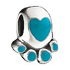 Miss Chamilia - sterling silver and enamel paw pal bead - Product number 8470758