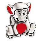 Miss Chamilia - sterling silver and enamel monkey kid's bead - Product number 8470782