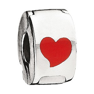 Miss Chamilia - sterling silver and enamel heart lock - Product number 8470820