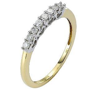18ct Gold Fifth Carat Diamond Eternity Ring