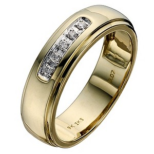 Perfect Fit 9ct Two Colour Gold Wedding Ring